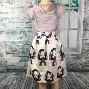 Unbranded Art Inspired Fashion Rose Skirt S/M